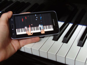 Piano Tutorials using smart phone