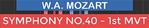 Symphony No 40 1st Movement - Molto Allegro - Mozart