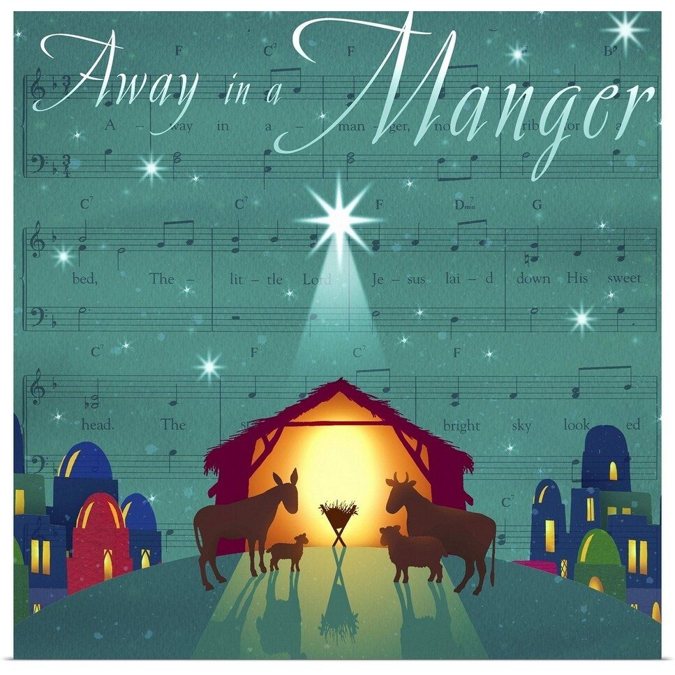 Poster Away In A Manger