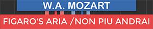 Non Piu Andrai - Figaros Aria - The Marriage Of Figaro - Mozart